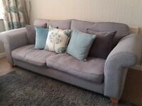 DFS three-seater sofa, 18 months old, hardly used