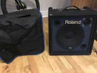 Roland KC350 keyboard amplifier with cover