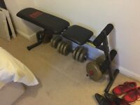 Weight bench (pro power) with weights