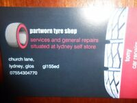 part worn tyre shop .services/repairs IN LYDNEY GLOUCESTERSHIRE !!!!!