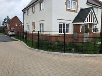 Nearly new metal railing fence 20m