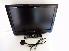 TOSHIBA 19 INCH LCD TV/DVD COMBI WITH WALL MOUNT BRACKET.
