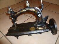"""Antique 1880s Hurtu """"Nouvelle Machine A Fil Continu"""" Size A"""