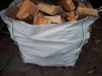 hard wood logs builders bag
