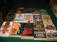 Ken Follet books $1 each or $10 for the lot
