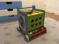 Wooden Baby Walker and Multi Activity cube