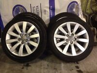 audi alloy wheels 16 inch with excellent condition * all tyres 215/45/16 continental ,