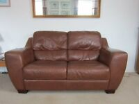 Good condition 2 seat leather sofa, carefully used, available immediately,