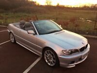 2005 55 BMW 320cd Diesel M-Sport Convertible with Leather & Sat Nav And FULL Service History