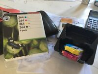 New box of HP 364 multipack (3 colours and 1 black) + 2 extra