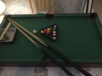 Snooker table/air hockey combination