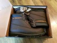 Brand new Rock Wood steel toe cap mens safety boots - size 8