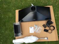Rangemaster Classic Chimney Hood Black with Chrome Trim, 120 cm