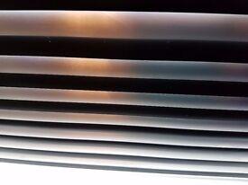 "Black / Silver Metal Venetian Blind size: 87.5"" x 39"""