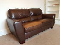 2 x Reid Leather Sofas For Sale
