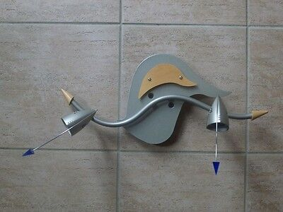 Trendige Wand-/Deckenleuchte v. Brilliant, grau, verstellbar