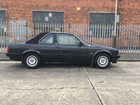 BMW 320I E30 CONVERTIBLE BAUR. BLACK. FULL SERVICE HISTORY