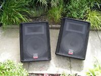 "WHARFEDALE POWERED AND PASSIVE 12"" AND HORN STAGE MONITORS-MANCHESTER"