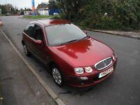 Rover 25, 1.4 il 16v , 3dr,hatchback,2003,nightfire red,long mot,pas,c/l,sony cd,e/w e/m,good runner