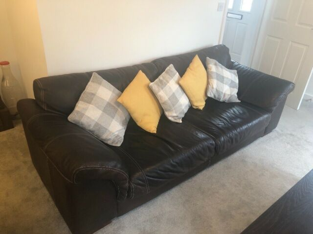Super 2 Seater And 3 Seater 100 Natural Leather Sofa Dark Brown Immaculate Condition In Swindon Wiltshire Gumtree Bralicious Painted Fabric Chair Ideas Braliciousco