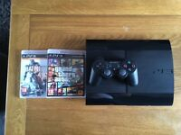 PS3 500GB version, 2 games and 1 controller