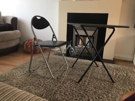 Fold away desk and chair - good condition.