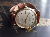 9k 9ct solid gold vintage Record mens watch (Longines)