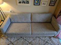 IKEA Karlstad 3 Seater Sofa in Isunda Grey