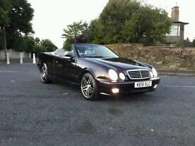 Mercedes CLK 2.0 komp Black Convertible