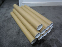 New 10 Postal Cardboard Tubes with End Caps