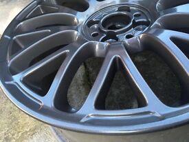 "fiat 500 595 abarth alloy wheels 17"" 4x98 4x100"