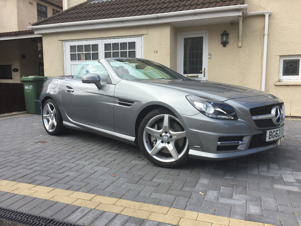 2012 Mercedes Benz SLK250 CDI AMG Sport Heated Red Leather Airscarf Comand  Nav Parktronic El/