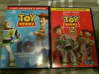 Toy story 1 & 2 collectors edition dvds