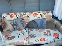 FREE. orange and brown sofa