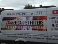 Vanhee carpet vinyl suppliers fitters uplifts refits repairs est 35 yrs free est tel 07967812855