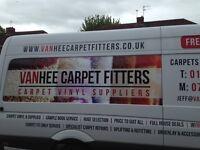 Vanhee carpet vinyl suppliers fitters uplifts refits repairs est 35 yrs free est tel 07967812855
