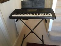 Yamaha electronic organ PSR630 in excellent condition with stand and dust cover