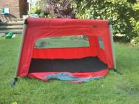 Phil and Teds Red Travel Cot. In good condition. Smoke and Pet Free Home