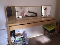 Lovely Ikea Dressing Table / Console Table with Mirror