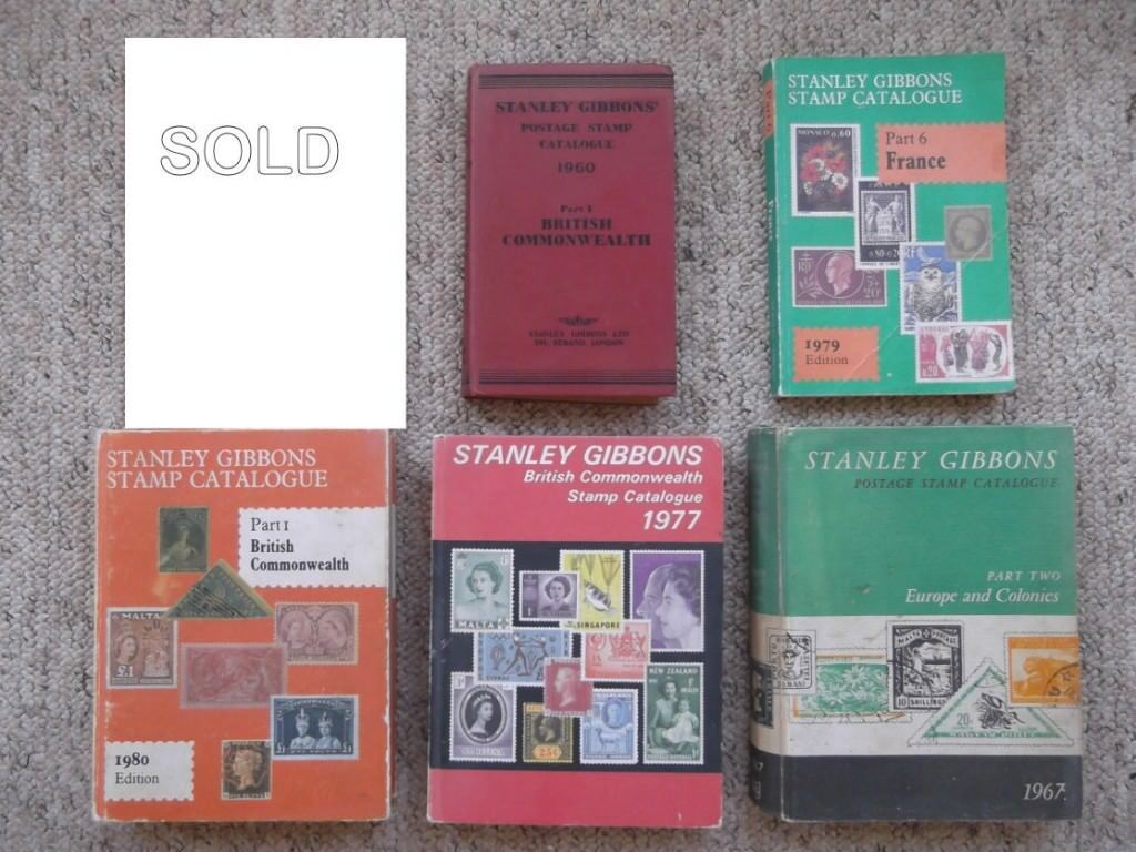 5 Stanley Gibbons stamp catalogues - British Commonwealth, France, Europe & Colonies