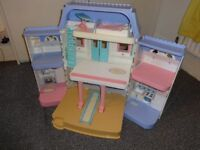 Huge fisher price fold out dolls house