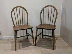Pair of Vintage Ercol Windsor Mid Century Dining Chairs