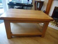 Oblong Solid Oak Coffee Table Excellent Condition.
