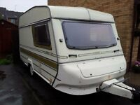 Abbey GT 212 2 berth touring caravan , good condition for year 1985, new tyres.