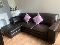 Next leather corner sofa