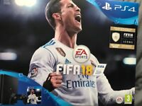Unopened brand new PS4 console fifa bundle and extra game