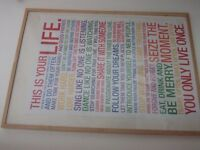 'This is your lIfe' poster framed picture
