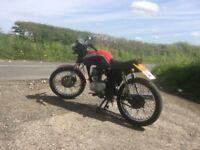 honda cg125 4 stroke custom cafe racer brat bike ect £525