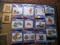 14 x DISNEY CROSS STITCH KITS ALL BRAND NEW AND SEALED.