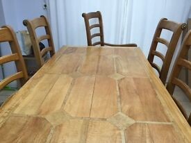 Dining Set and Matching Sideboard